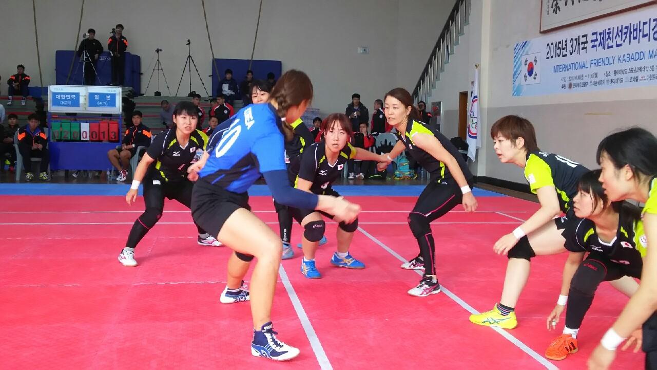 カバディ日本代表 韓国遠征2015...